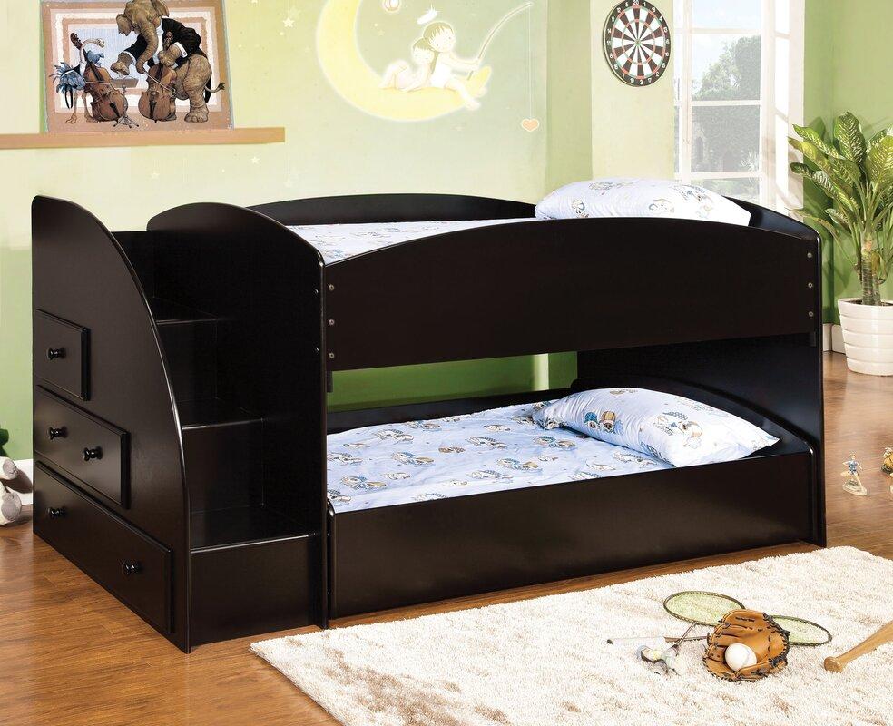 Amazing Twin Bunk Beds With Storage Part - 3: Jamie Twin Bunk Bed With Storage