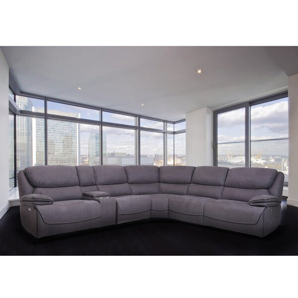 Best #1 Halladay Reclining Sectional By Latitude Run Sale