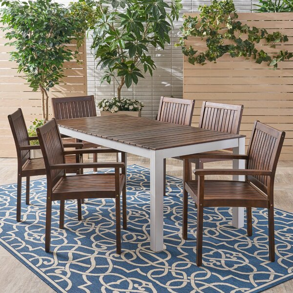 Mailiah 7 Piece Dining Set by Highland Dunes