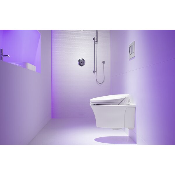 Veil One-Piece Elongated Dual-Flush Wall-Hung Toilet with C3 Bidet Toilet Seat and 2X6 In-Wall Tank and Carrier System by Kohler