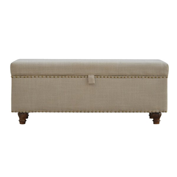 Pruneda Hallways Studded Lid-up Linen Bench by One Allium Way