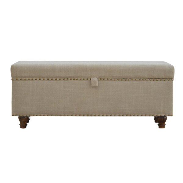 Pruneda Hallways Studded Lid-up Linen Bench by One Allium Way One Allium Way