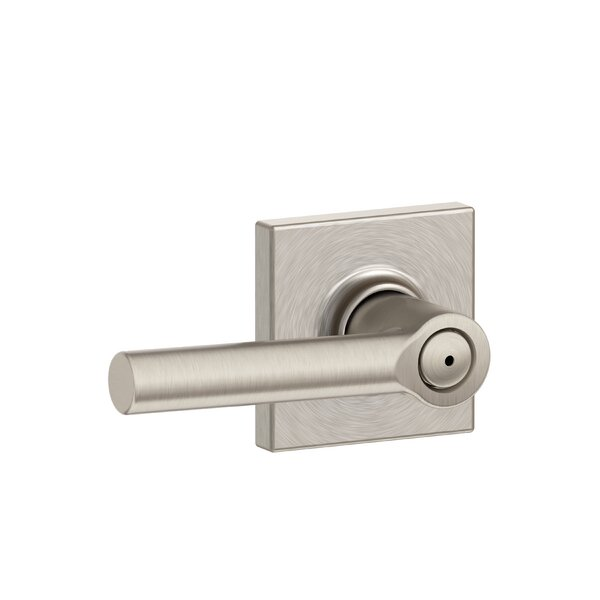 Broadway Lever with Collins Trim Bed and Bath Lock