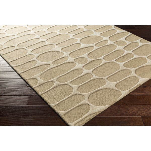 Nida Hand-Tufted Neutral Area Rug by Wrought Studio