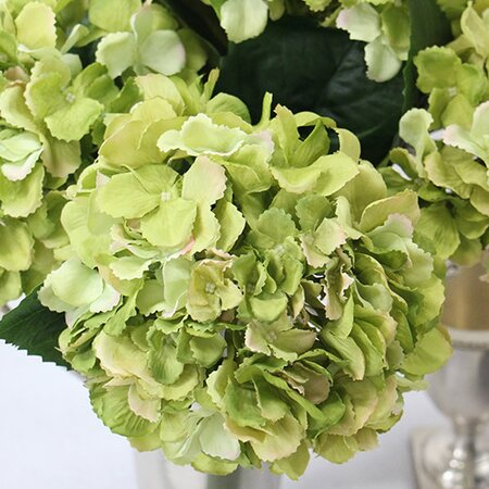 Luxury Silk Serrated Petal Hydrangea Stem by G Home Collection