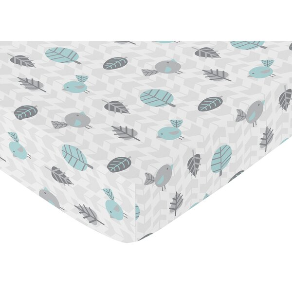 Earth and Sky Bird Print Fitted Crib Sheet by Sweet Jojo Designs