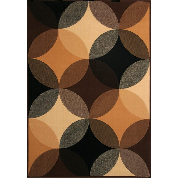 Culpepper Black/Brown Area Rug by Wade Logan
