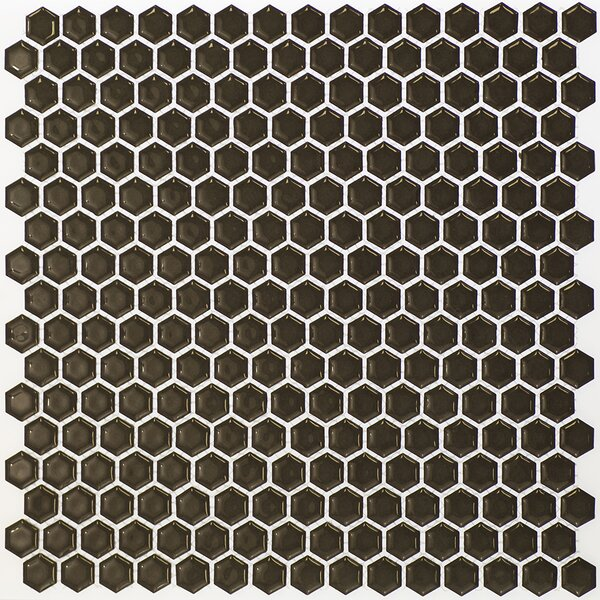 Bliss 0.6 x 0.6 Ceramic Mosaic Tile in Dark Gray by Splashback Tile