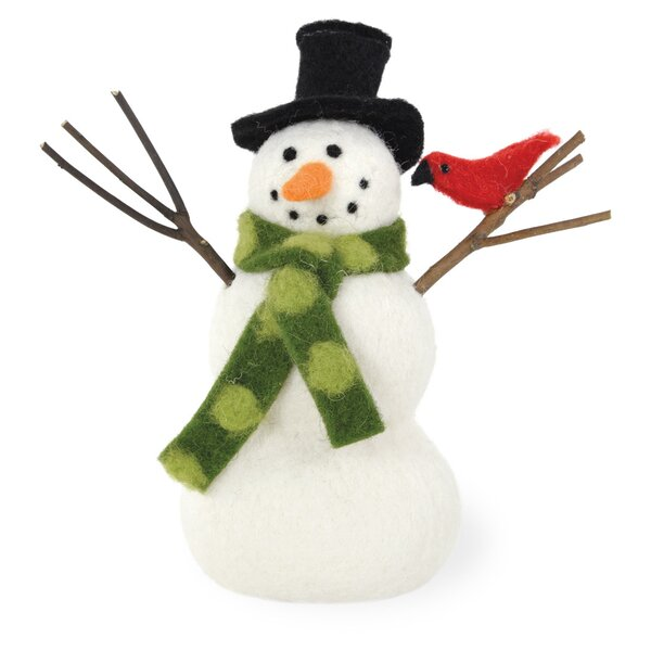 Mr. Snowman Top Hat Figurine (Set of 2) by The Holiday Aisle