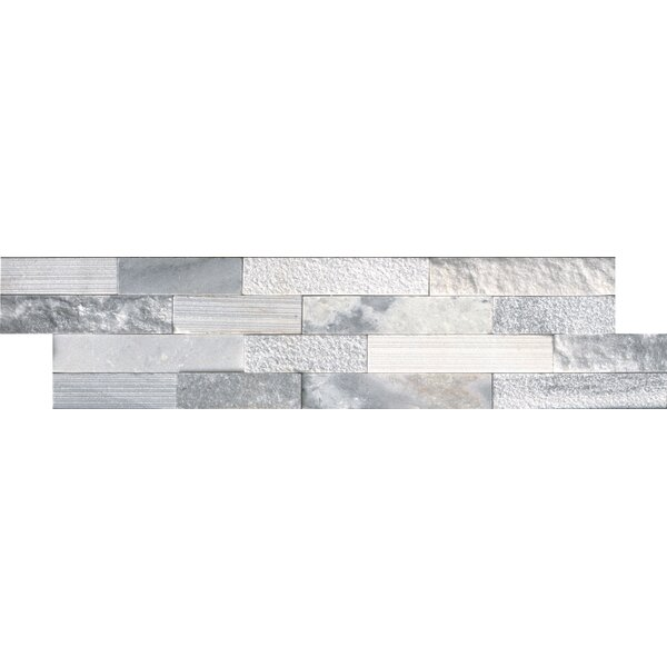 Alaska 6 x 24 Marble Field Tile in Gray by MSI