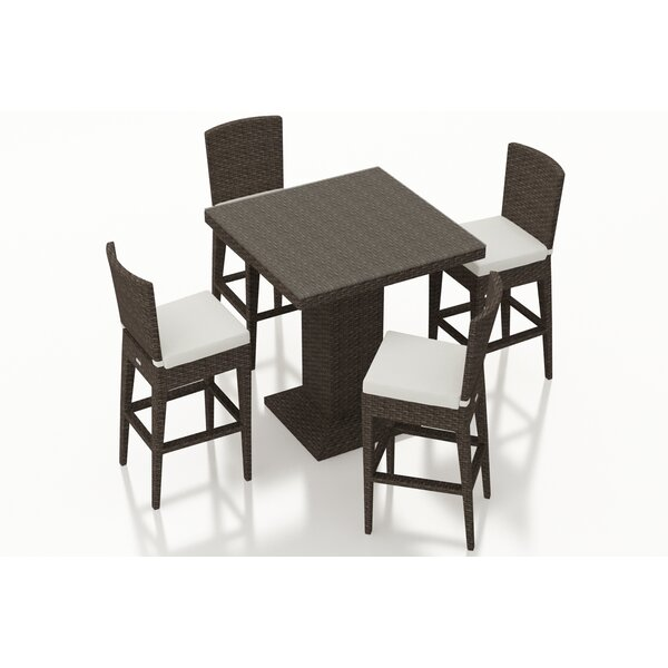 Hodge 5 Piece Bar Height Dining Set with Cushions by Rosecliff Heights