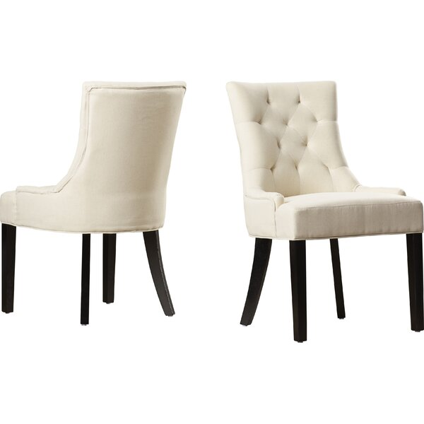 Grandview Side Upholstered Dining Chair (Set of 2) by Alcott Hill