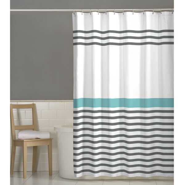 Prastio Simple Stripe Shower Curtain by Beachcrest Home