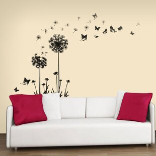 Elegant Transparent Dandelion Wall Decal