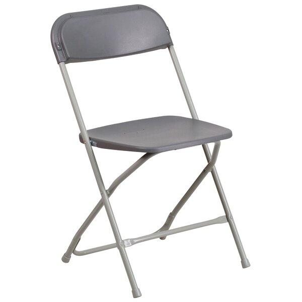 Laduke Premium Plastic Folding Chair by Symple Stuff