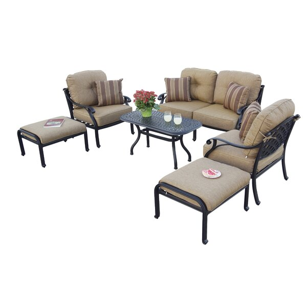 Lincolnville 6 Piece Sofa Set with Cushions by Fleur De Lis Living