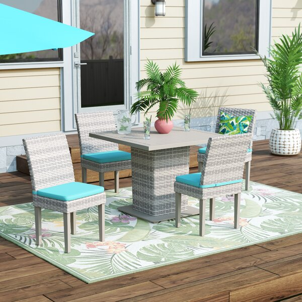 Falmouth 5 Piece Dining Set with Cushions by Sol 72 Outdoor