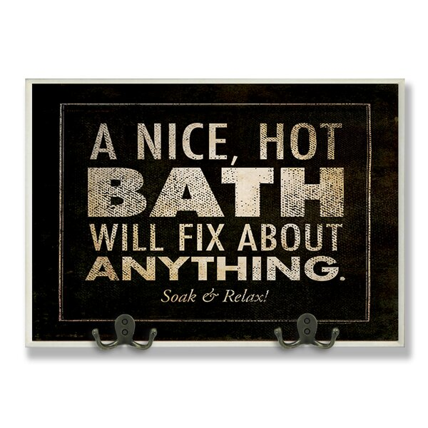 A Nice Hot Will Fix Anything Black Bathroom Textual Art Wall Plaque by Stupell Industries