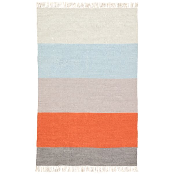 Tahoe Flat Woven Orange Indoor/Outdoor Area Rug by Wrought Studio