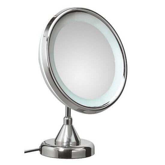 Mirror Pure Lucciolo Magnifying Cosmetic Mirror with Lighting by WS Bath Collections