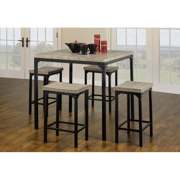 Seneca Wood Look 5 Piece Dining Set by Union Rustic