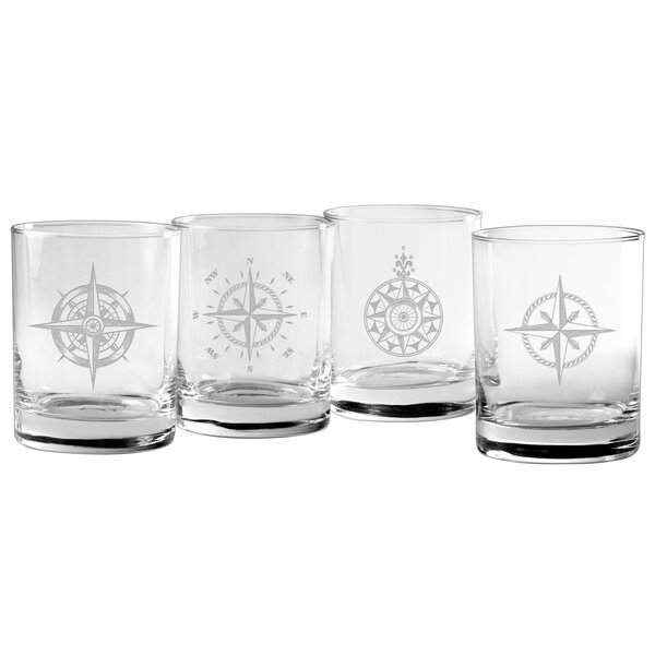 Chelton 14 oz. Old Fashioned Glass (Set of 4) by Beachcrest Home