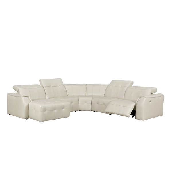 Loar Leather Reclining Sectional by Latitude Run