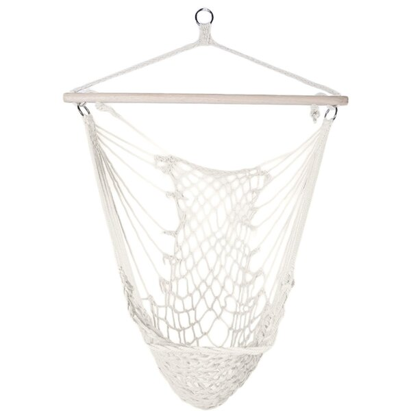 Flythe Cotton Hanging Rope Air Sky Swing Chair Hammock by Bungalow Rose