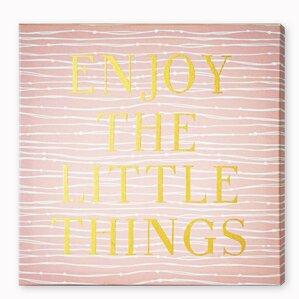 Enjoy Everything Textual Art on Plaque