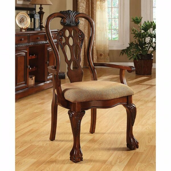Bartonville Traditional Solid Wood Arm Chair (Set of 2) by Astoria Grand