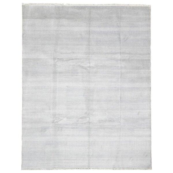 Puccio Hand Woven Gray Area Rug by Gracie Oaks