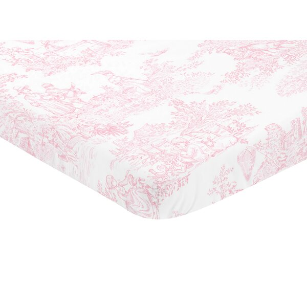 French Toile Mini Fitted Crib Sheet by Sweet Jojo Designs