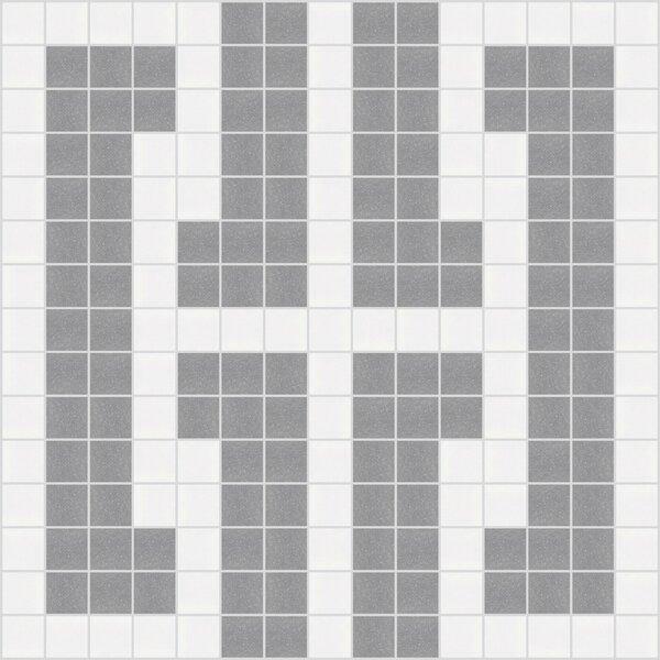 Urban Essentials Bold Chain 3/4 x 3/4 Glass Glossy Mosaic in Calm Grey by Mosaic Loft