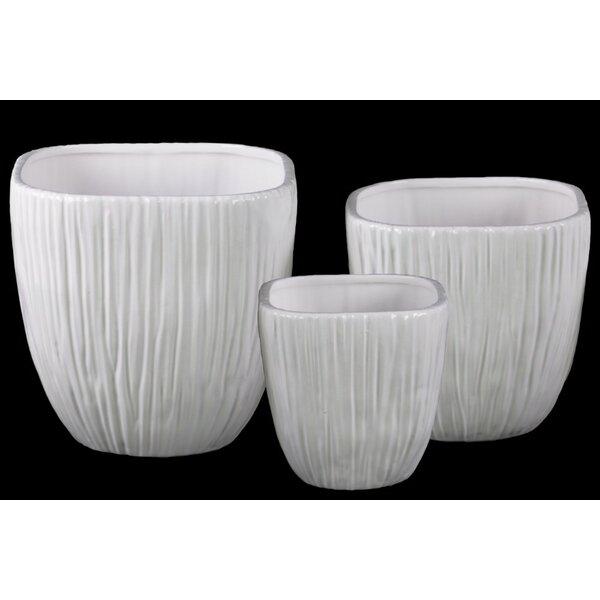 Staveley 3-Piece Ceramic Pot Planter Set by Highland Dunes