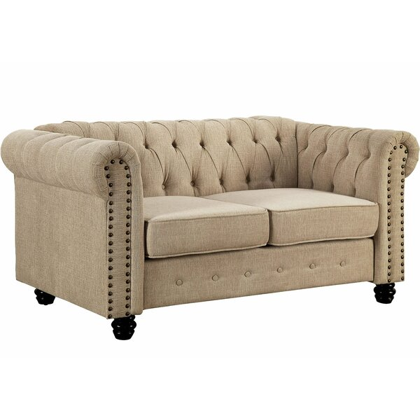 Neill Chesterfield Loveseat by Darby Home Co Darby Home Co