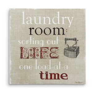 'Laundry Room' Textual Art on Wrapped Canvas by August Grove