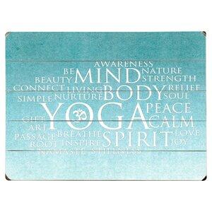 Yoga 5 Piece Textual Art Multi-Piece Image on Wood by Artehouse LLC