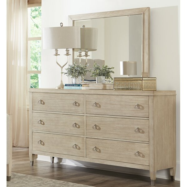 Sausalito 6 Drawer Standard Dresser with Mirror by Ivy Bronx