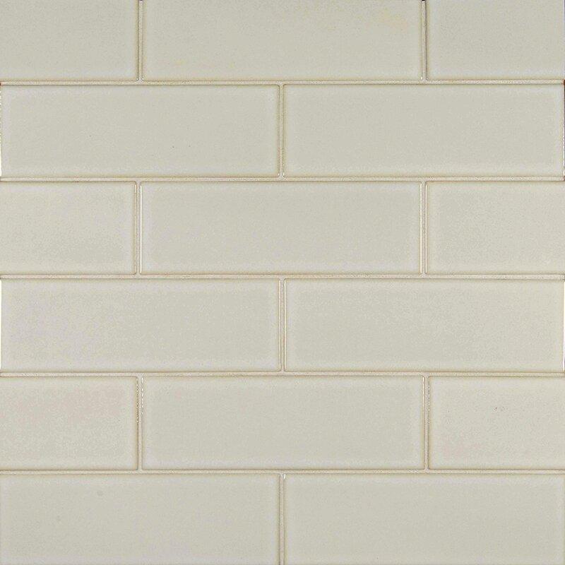 4 X 12 Glazed Ceramic Tile In Antique White