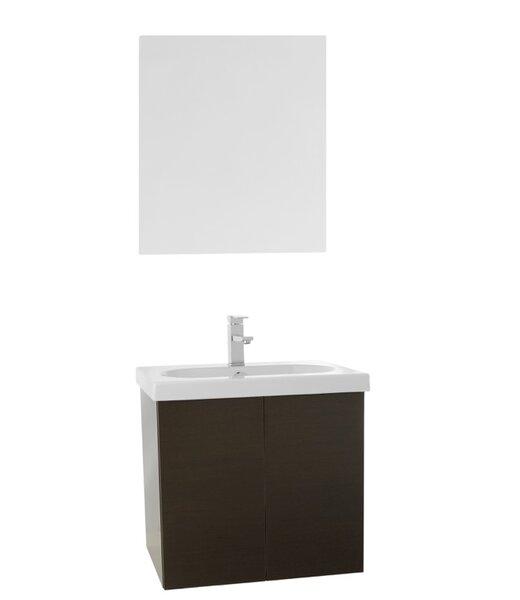 Trendy 31 Wall-Mounted Single Bathroom Vanity Set by Nameeks Vanities