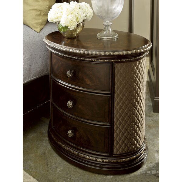 Hepburn 3 Drawer Nightstand by Astoria Grand
