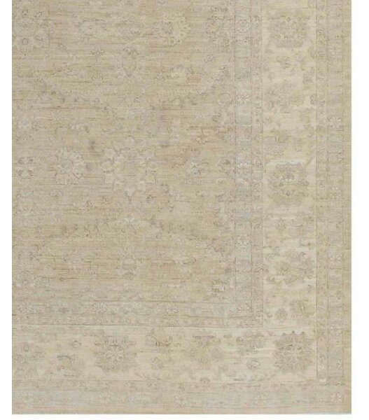 Farahan Hand-Knotted Wool Brown Area Rug by Pasargad NY