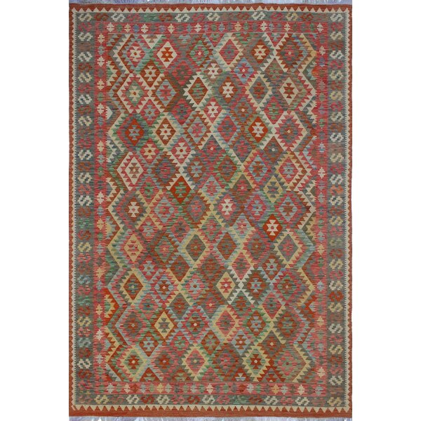 One-of-a-Kind Priston Hand-Woven Wool Rust Area Rug by Loon Peak
