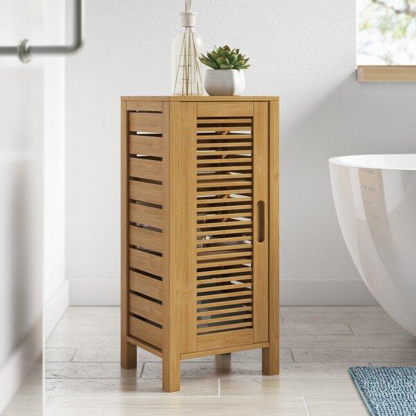 Ayden 13 W x 28.5 H x 11 D Solid Wood Free-Standing Bathroom Cabinet