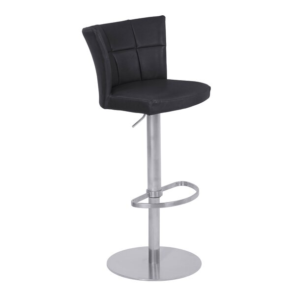 Denison Adjustable Height Swivel Bar Stool by Latitude Run