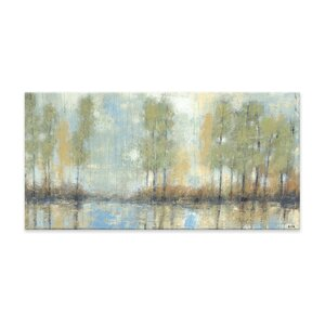 Through the Mist Textured Painting Print on Canvas by Artefx Decor