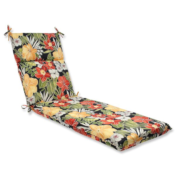 Clemens Noir Indoor/Outdoor Chaise Lounge Cushion by Pillow Perfect