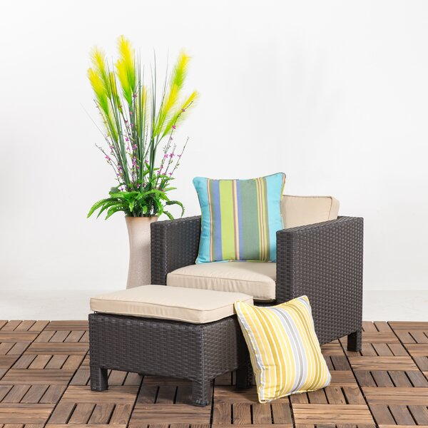 Squires Outdoor Patio Chair with Cushions by Bay Isle Home