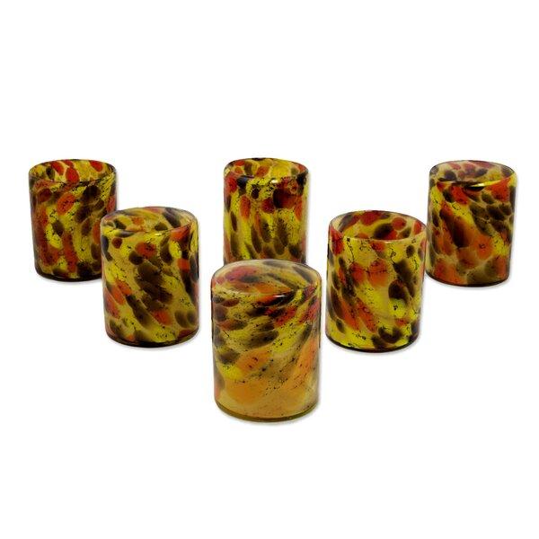 Polka Dot 10 Oz. Rock Glass (Set of 6) by Novica
