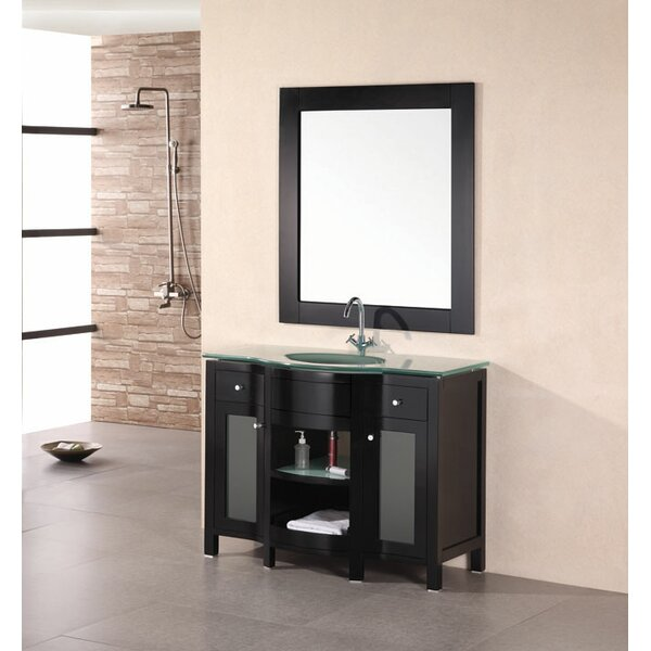 Francea 43 Single Bathroom Vanity Set with Mirror by dCOR design